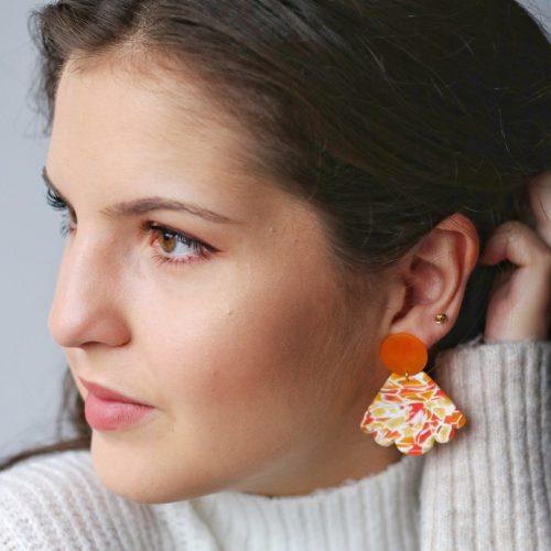 Pendiente Alma naranja modelo