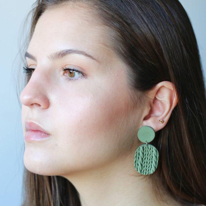 Pendiente Alaska verde modelo